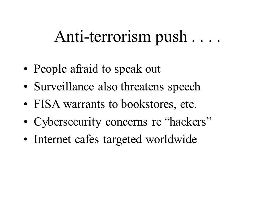 Anti-terrorism push....