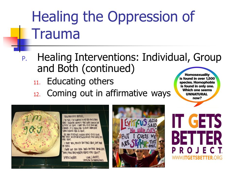 Healing the Oppression of Trauma P.