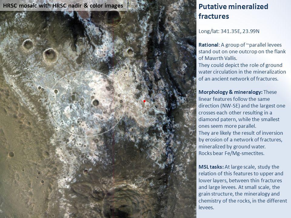 500 m HiRISE mosaic with HRSC & HiRISE color images Next slide