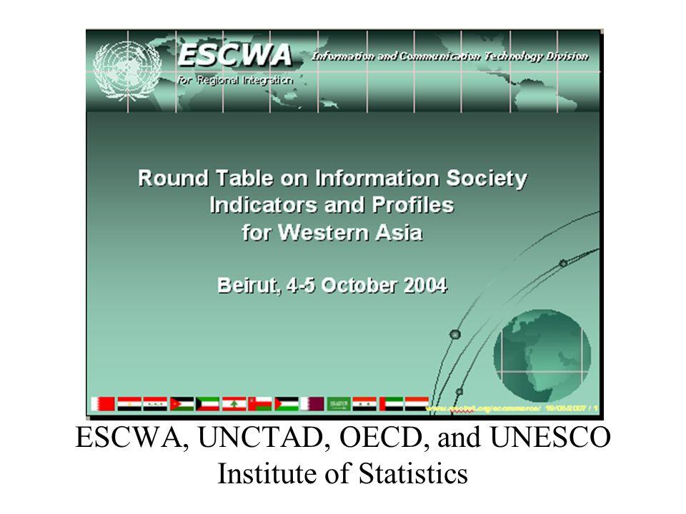 ESCWA, UNCTAD, OECD, and UNESCO Institute of Statistics