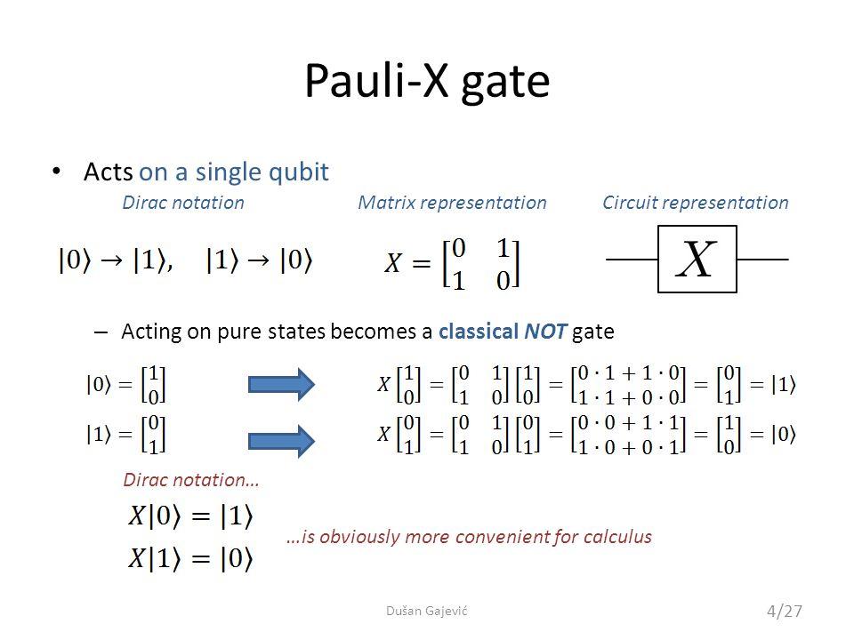 QCL Example of operator definition 25/27 Dušan Gajević