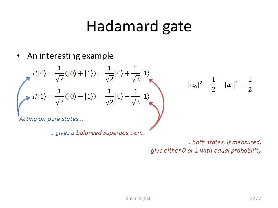 Quantum programming 18/27 Dušan Gajević