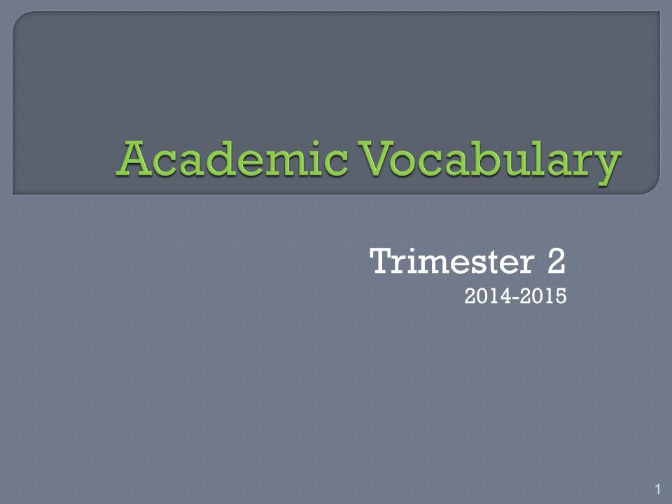 Trimester 2 2014-2015 1