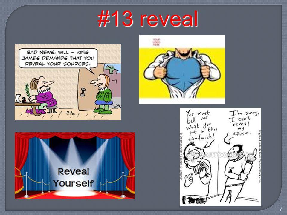 7 #13 reveal