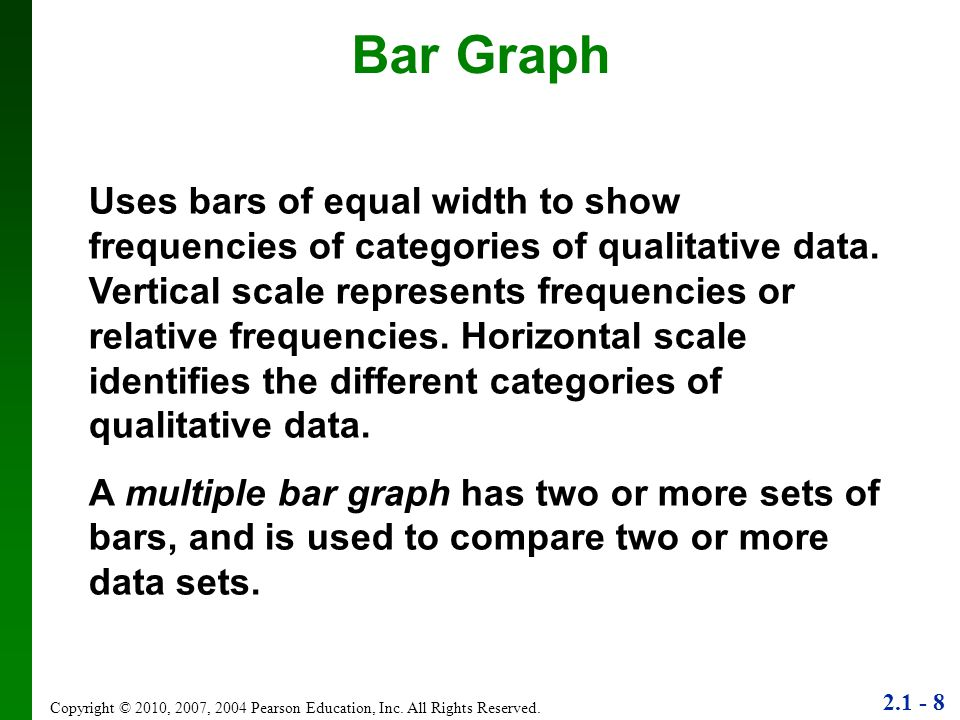 2.1 - 8 Copyright © 2010, 2007, 2004 Pearson Education, Inc.