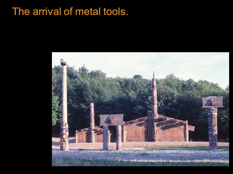 The arrival of metal tools.