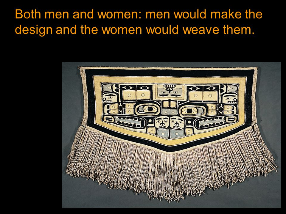 Both men and women: men would make the design and the women would weave them.