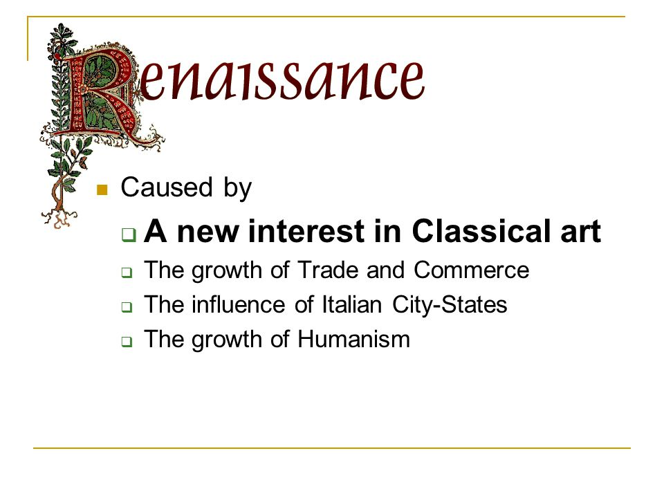 What is the Renaissance.