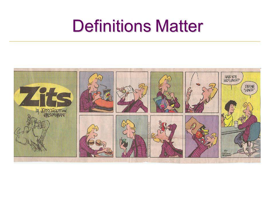 Definitions Matter