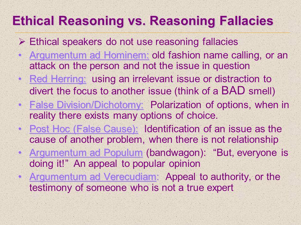 Ethical Reasoning vs.