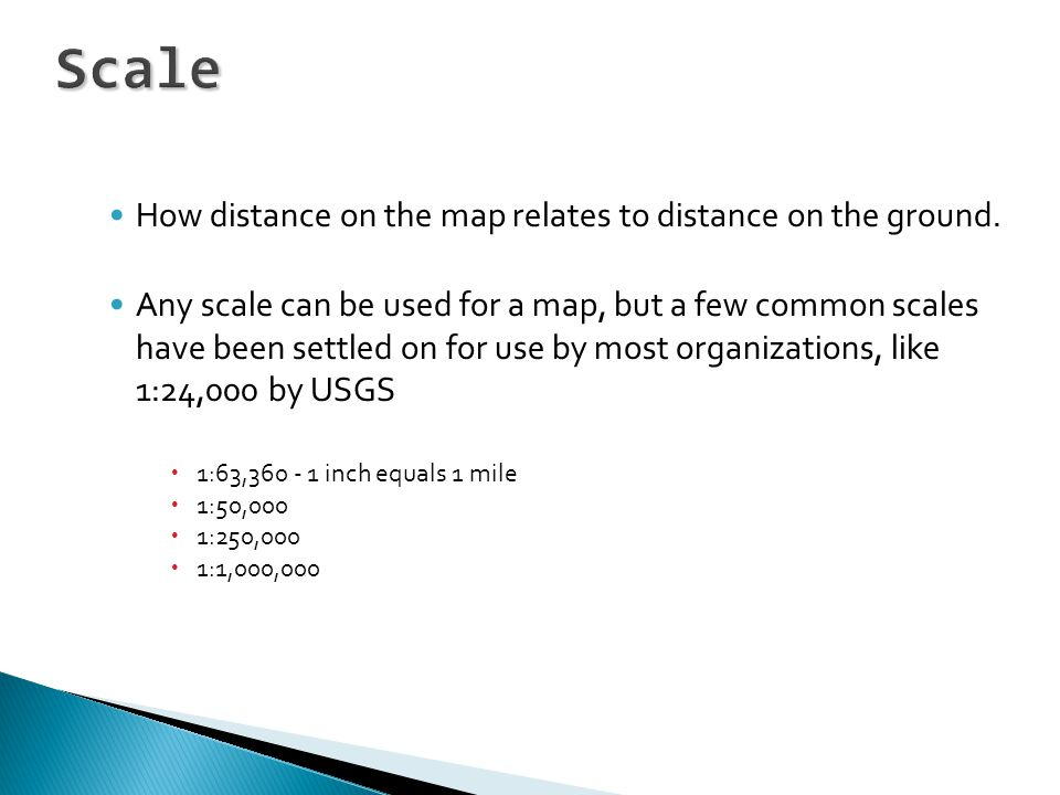 How distance on the map relates to distance on the ground.