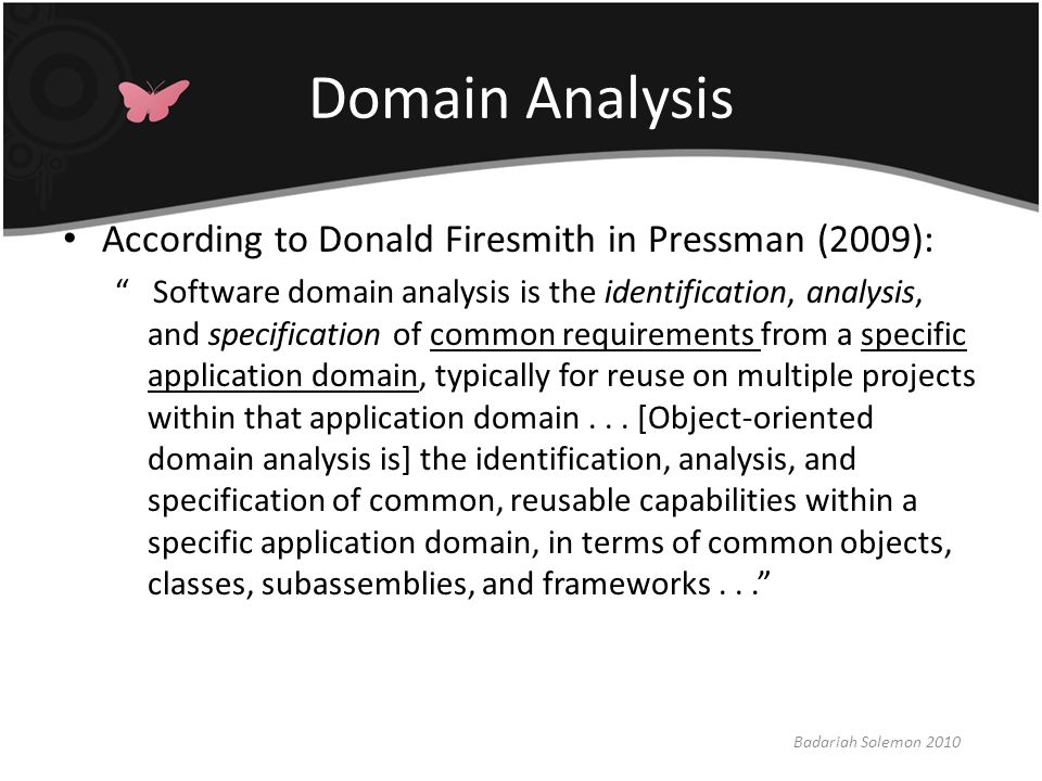 What is Domain Analysis.