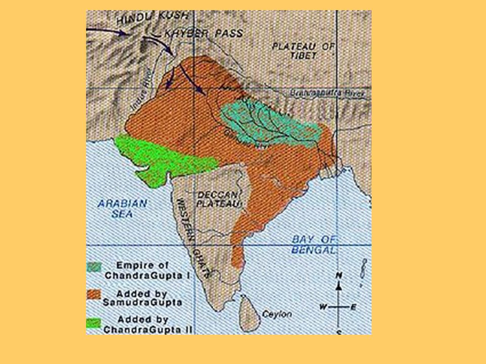 Politics Chandra Gupta (320-335 AD)‏ –Alliances & Conquest –Consolidated Power & Territory –Drove out the Kushans Samudra Gupta (335-375 AD)‏ Chandra
