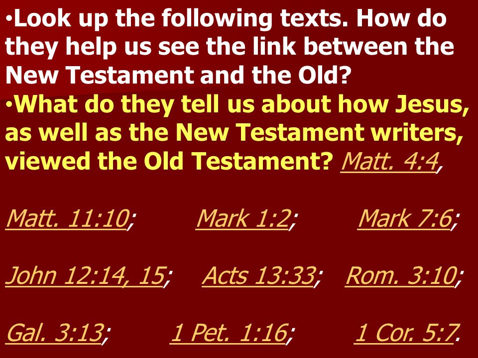 Look up the following texts.