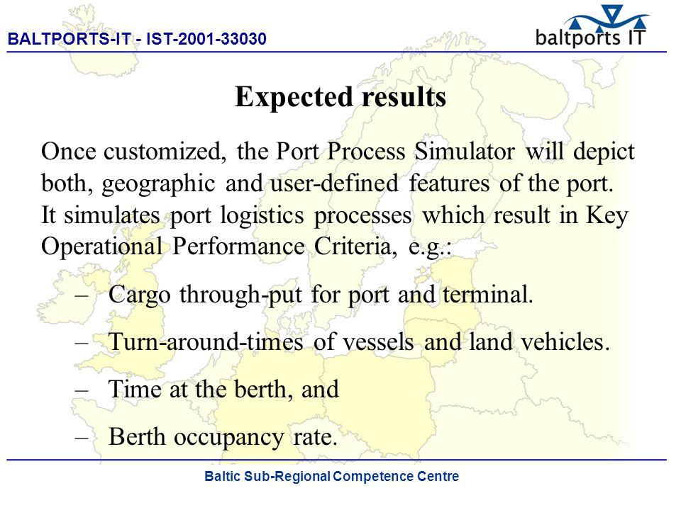 BALTPORTS-IT - IST-2001-33030 ____________________________________________________ The Port Process Simulator Baltic Sub-Regional Competence Centre