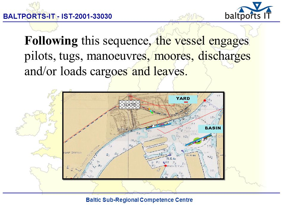 BALTPORTS-IT - IST-2001-33030 ____________________________________________________ The Port Process Simulator Customisation of the shell of the Port Process Simulator is achieved by means of a very com- prehensive cascading menu system that is easy to understand and to use.