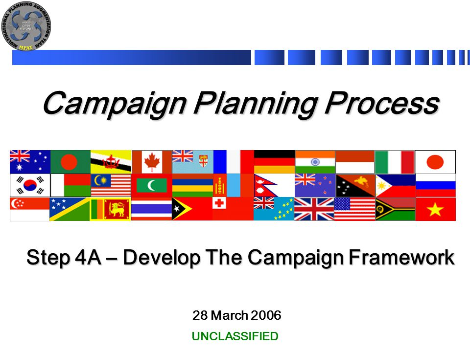 2 Learning Objectives This module will cover Step 4A of the Campaign Planning Process.