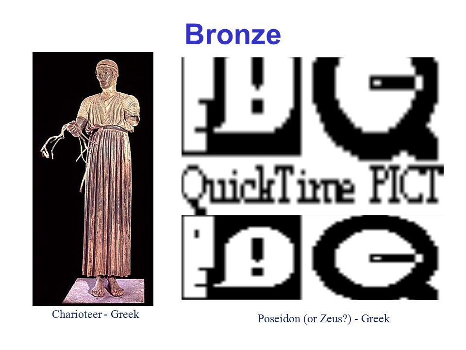 Marble Octavius depicted as Mercury (Roman) Terracotta (clay) Apollo, from Veii (Etruscan)