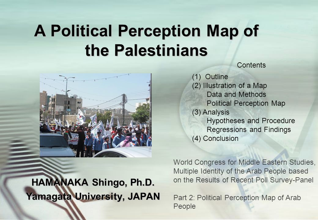 A Political Perception Map of the Palestinians HAMANAKA Shingo, Ph.D.