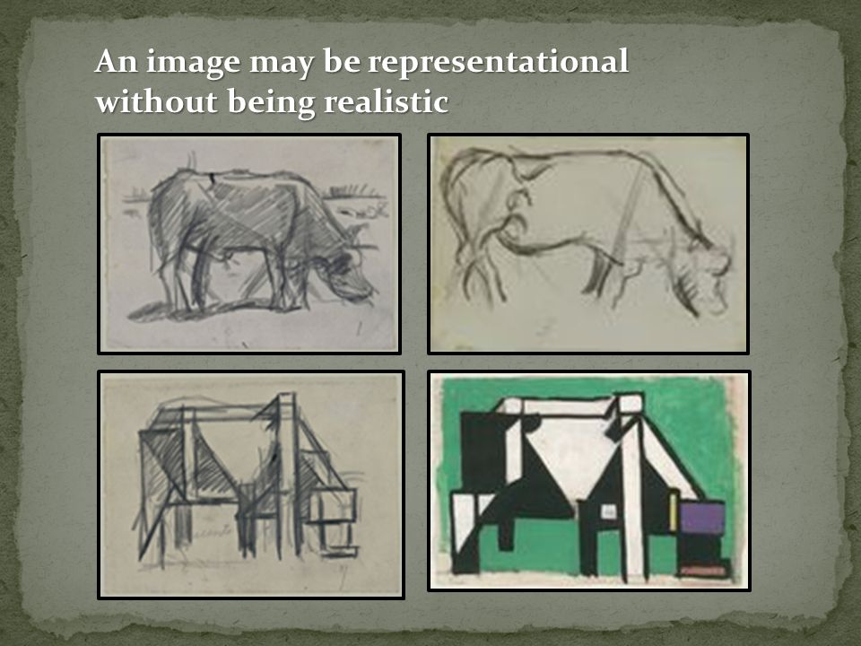 An image may be representational without being realistic