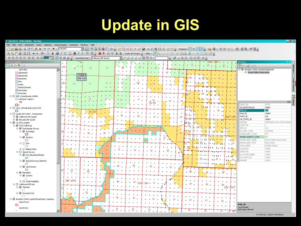 Update in GIS