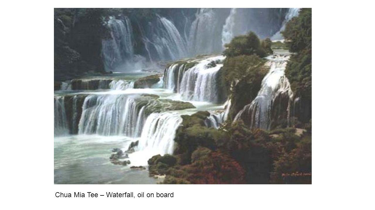 Chua Mia Tee – Waterfall, oil on board