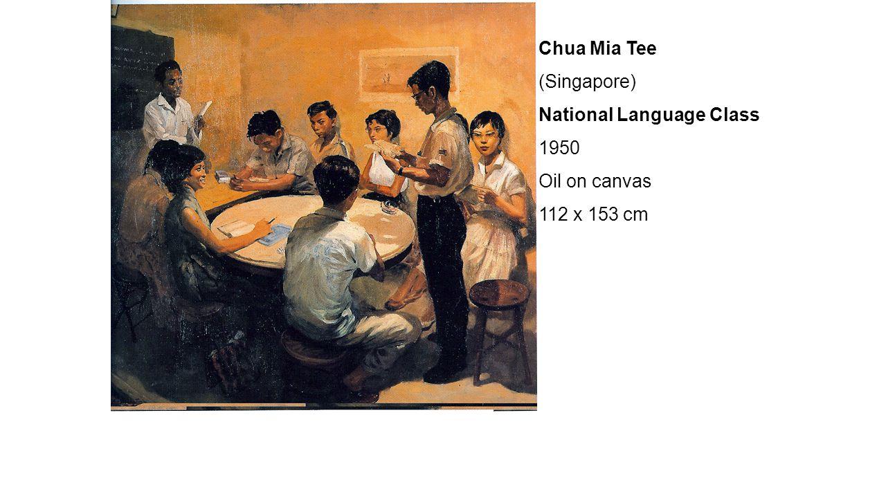 Chua Mia Tee (Singapore) National Language Class 1950 Oil on canvas 112 x 153 cm