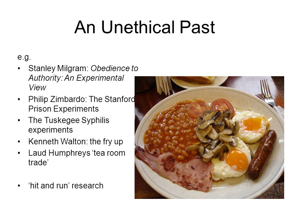 An Unethical Past e.g.