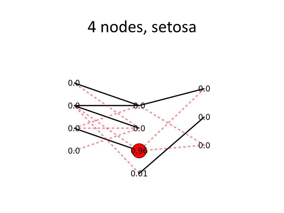 4 nodes, setosa