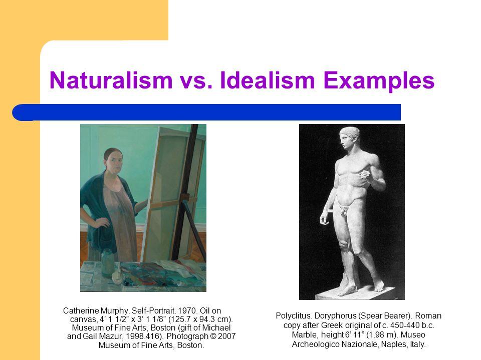 "Naturalism vs. Idealism Examples Catherine Murphy. Self-Portrait. 1970. Oil on canvas, 4' 1 1/2"" x 3' 1 1/8"" (125.7 x 94.3 cm). Museum of Fine Arts, B"