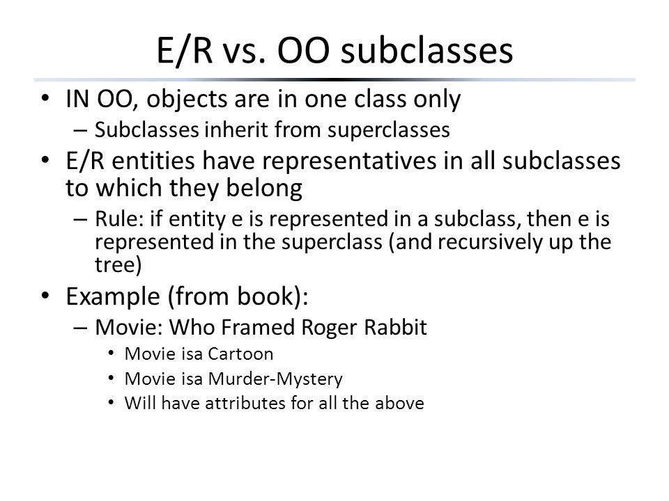 E/R vs.