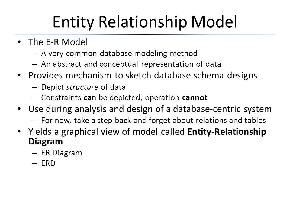 Sec. 4.3 Constraints in the E/R model