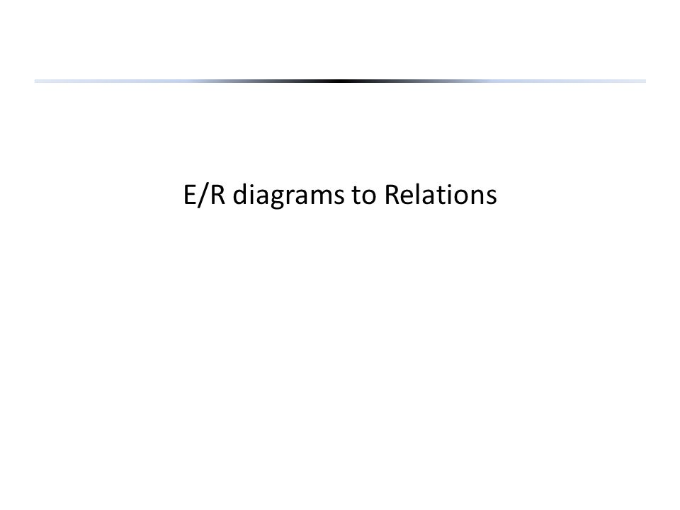 E/R diagrams to Relations