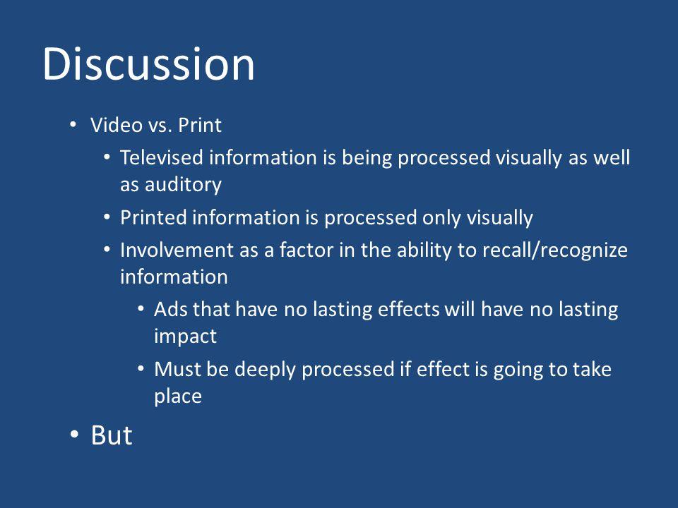 Discussion Video vs.