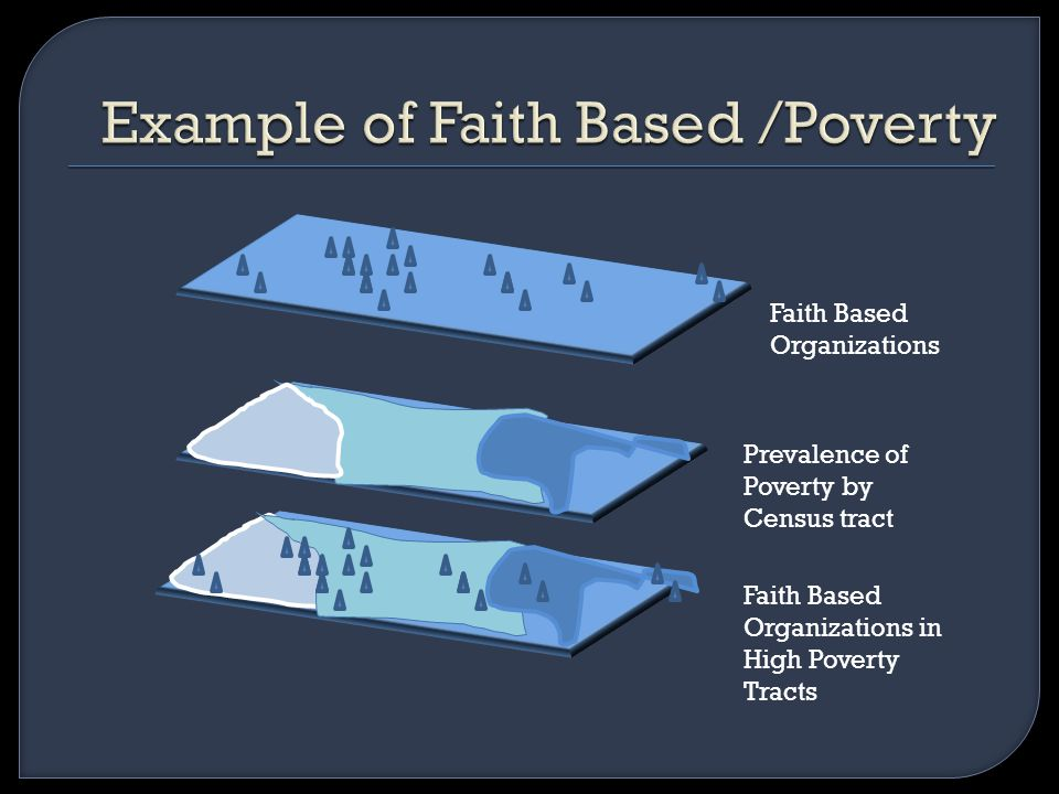 Faith Based Organizations Prevalence of Poverty by Census tract Faith Based Organizations in High Poverty Tracts