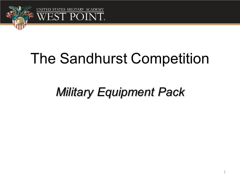 Military Equipment Pack The Sandhurst Competition Military Equipment Pack 1