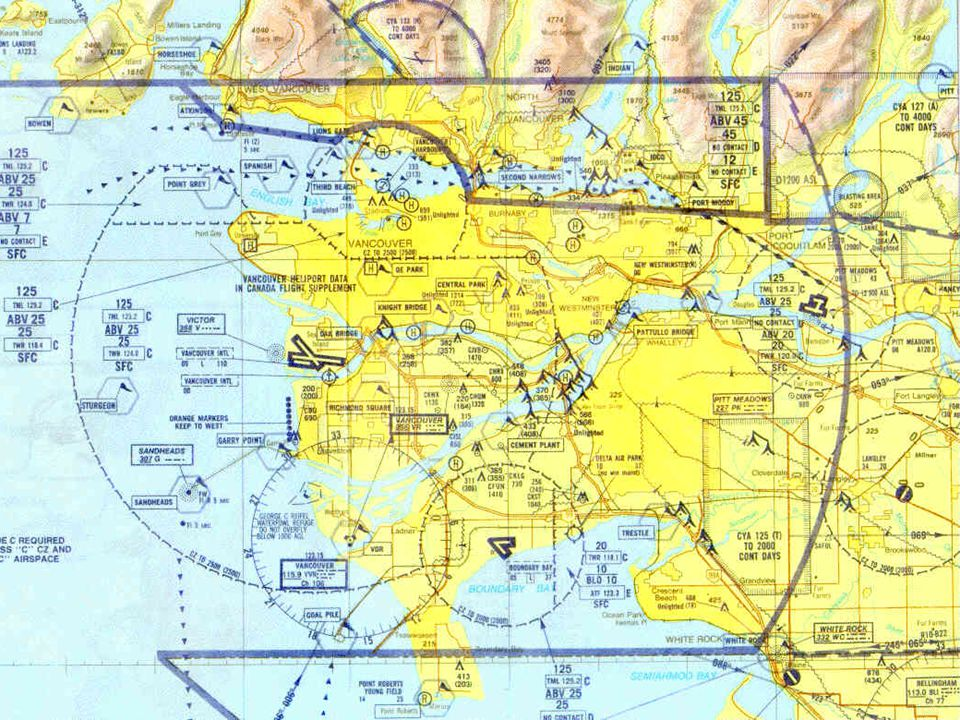VFR Terminal Area Chart (VTA) Used for visual navigation in around airports which are surrounded by Class C airspace They are printed for 6 airports in Canada (Toronto, Ottawa, etc.) There scale is 1:250,000 and they use the Transverse Mercator Projection