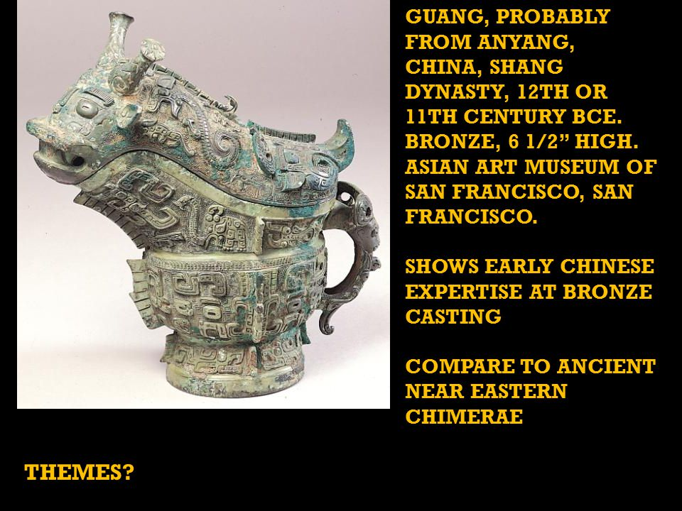 GUANG, PROBABLY FROM ANYANG, CHINA, SHANG DYNASTY, 12TH OR 11TH CENTURY BCE.