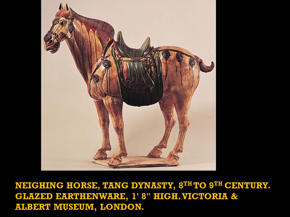 NEIGHING HORSE, TANG DYNASTY, 8 TH TO 9 TH CENTURY.