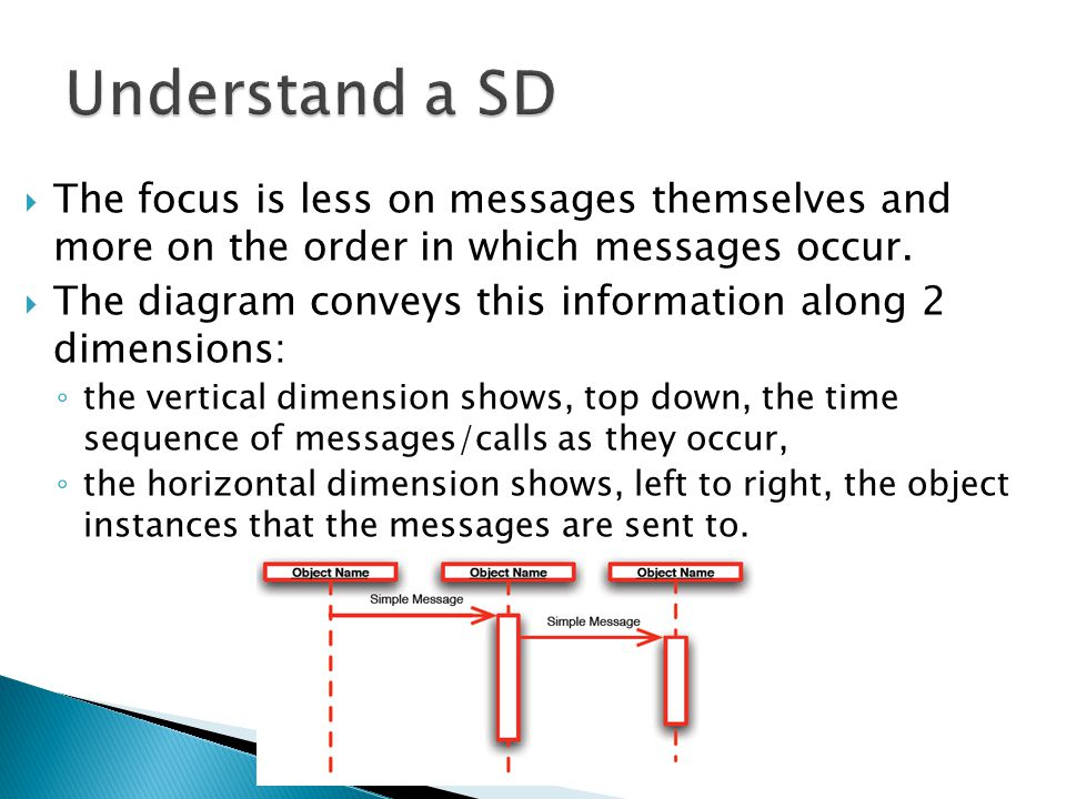  The focus is less on messages themselves and more on the order in which messages occur.
