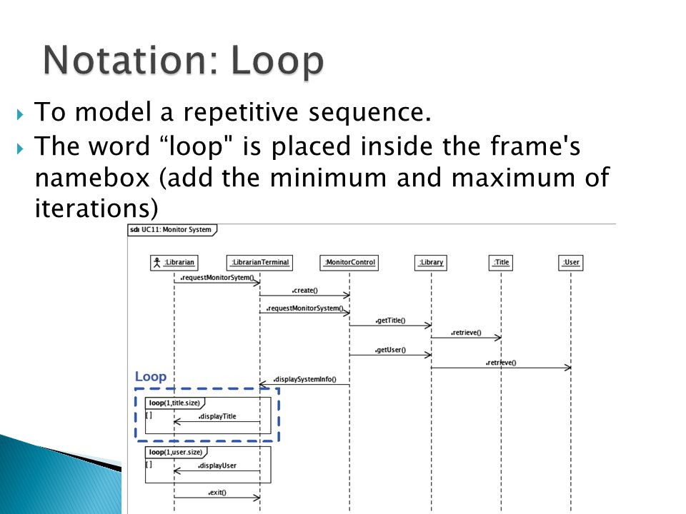 " To model a repetitive sequence.  The word ""loop"