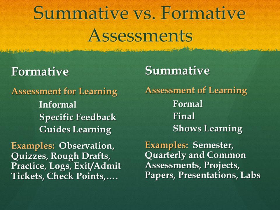Summative vs.