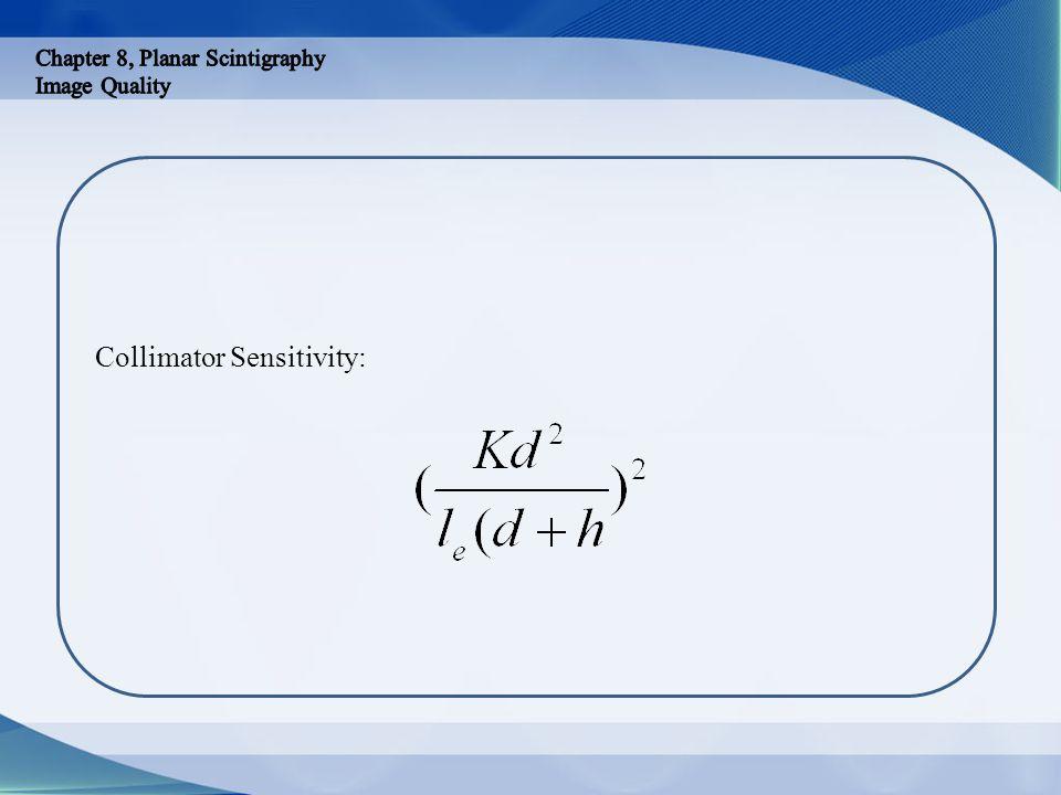 Collimator Sensitivity: