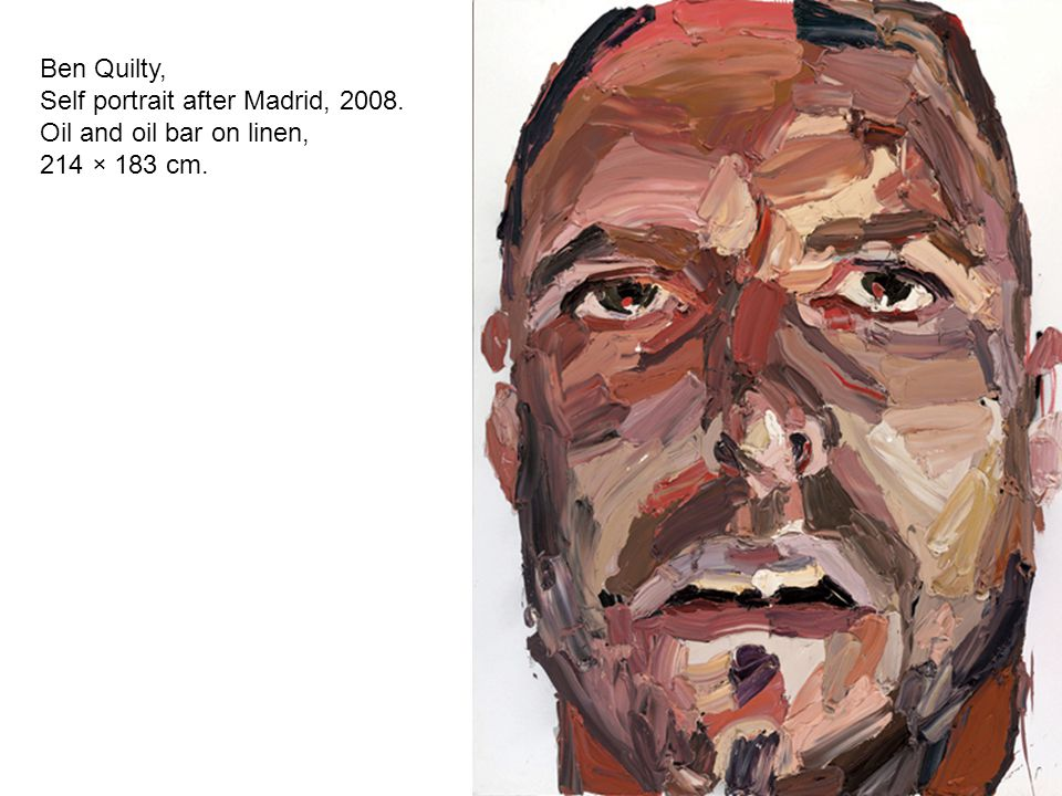 Ben Quilty, Self portrait after Madrid, 2008. Oil and oil bar on linen, 214 × 183 cm.