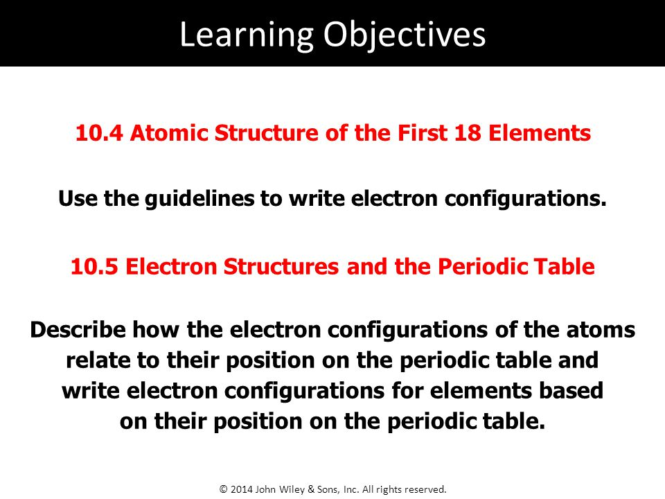 Use the guidelines to write electron configurations.