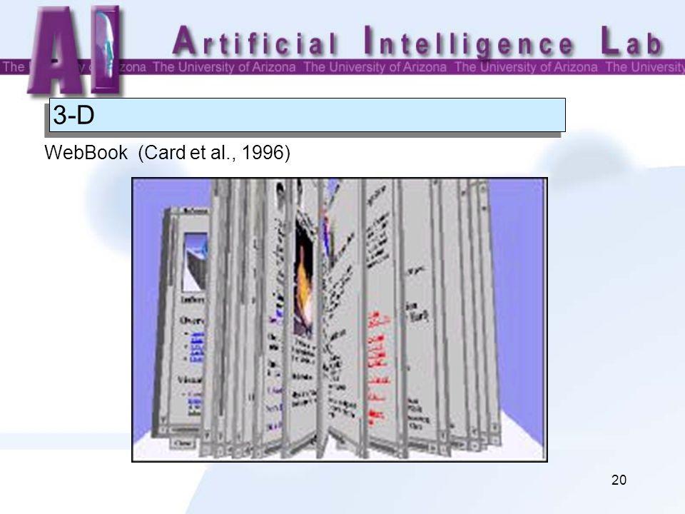 20 3-D WebBook (Card et al., 1996)