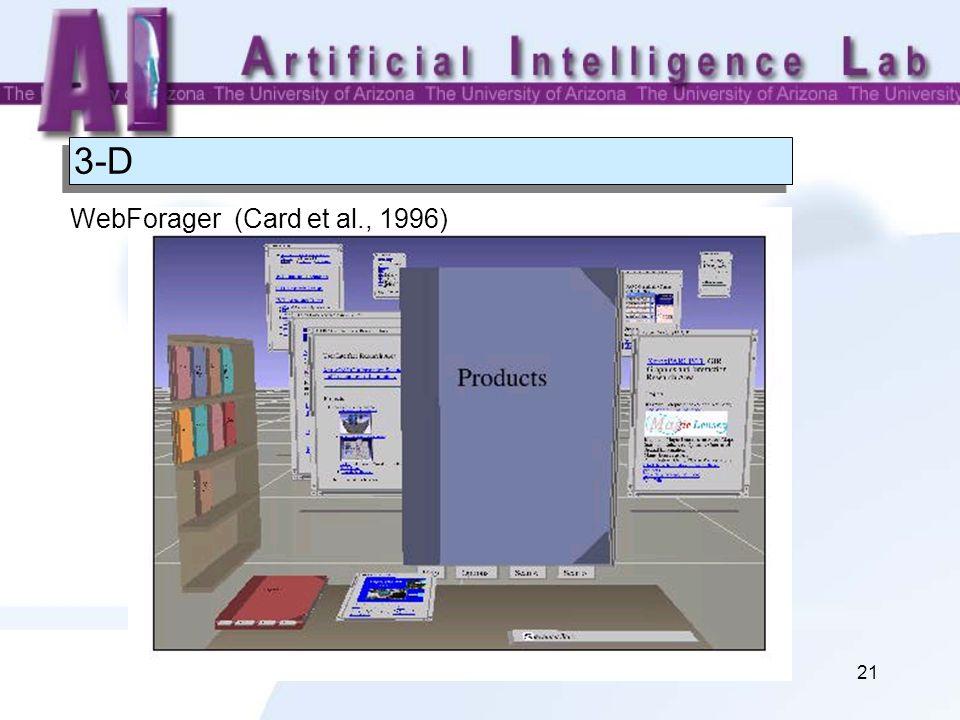 21 3-D WebForager (Card et al., 1996)