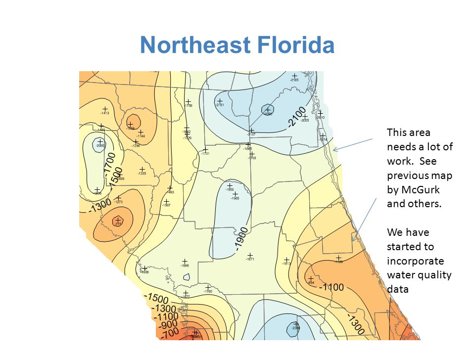 Northeast Florida This area needs a lot of work. See previous map by McGurk and others.