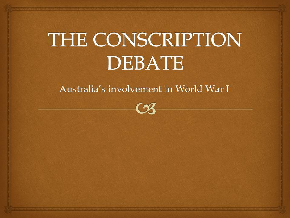 Australia's involvement in World War I