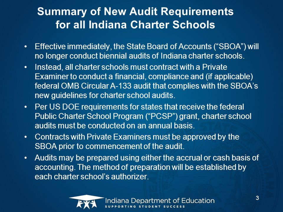 Contents Summary of New Audit Requirements Statutory Authority and US DOE Requirement New Audit Requirements Frequently Asked Questions Contacts and Resources 4